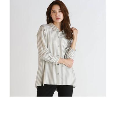 《ラエフ定番アイテム【極】シリーズ》ツイルマルチストライプシャツ