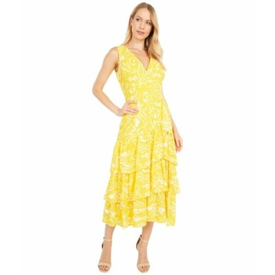 ラルフローレン ワンピース トップス レディース Jabari Sleeveless Day Dress Summer Lemon/Cream/Multi