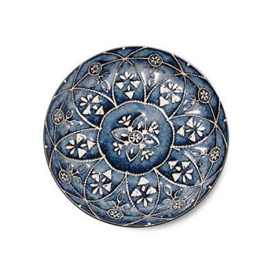 みのる陶器(Minorutouki) 小皿 モロッカン ネイビー S(直径14cm)