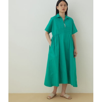 【ne Quittez pas】POPLIN EMB SHORT SLEEVE DRESS