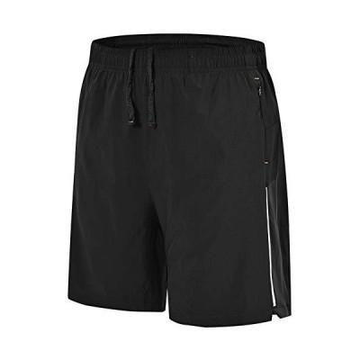 Gopune ランニングパンツ メンズ ハーフパンツ スポーツショートパンツ トレーニングウエア ジムウェア フィットネス ジョギング 再帰反射 イン