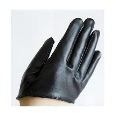 【★送料無料★】半分の手の手袋 手袋 衣装 仮装 コスプレ 可愛い 黒 ブラック レザー 高品質 精巧 おしゃれ ブラック 黒 ◆【M】サイズ人気 母の日