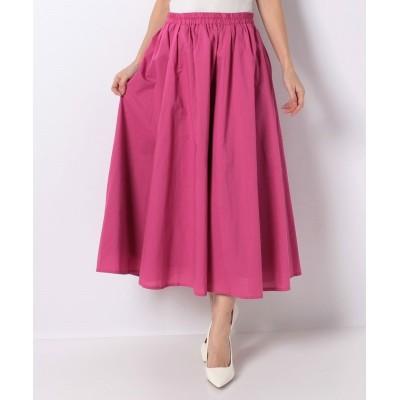 【マリンフランセーズ】 Color cotton マキシギャザースカート レディース ピンク 99(F) LA MARINE FRANCAISE