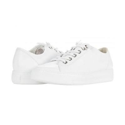 Paul Green ポールグリーン レディース 女性用 シューズ 靴 スニーカー 運動靴 Hadley Sneaker - White Silver MC Leather