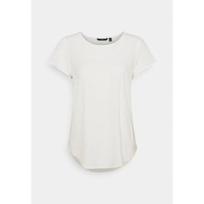 ヴェロモーダ シャツ レディース トップス VMBECCA PLAIN - Basic T-shirt - snow white