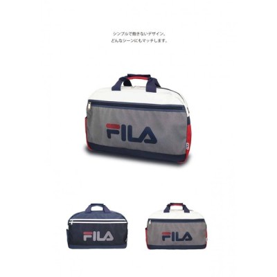 FILA(フィラ) ボストンバッグ 54cm ブランドロゴ ジム カジュアル 修学旅行 旅行 遠征 お出かけ 運動会