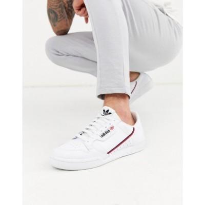 アディダス adidas Originals メンズ スニーカー シューズ・靴 Continental 80's Trainers In White ホワイト