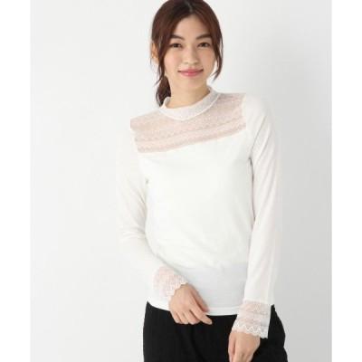tシャツ Tシャツ レースプチハイネックT【MIST LNE】/848124