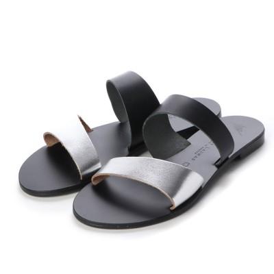 ニコラス ライナス NICOLAS LAINAS サンダル (SILVER/BLACK-BLACK SOLE)