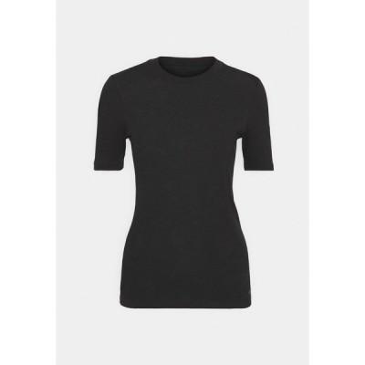 マルコポーロ Tシャツ レディース トップス SHORT SLEEVE ROUND NECK - Basic T-shirt - black