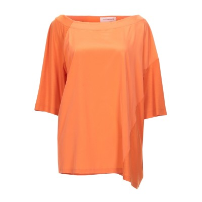 A.F.ヴァンデヴォースト A.F.VANDEVORST ブラウス オレンジ I シルク 91% / ポリウレタン 9% / 指定外繊維(テンセル)
