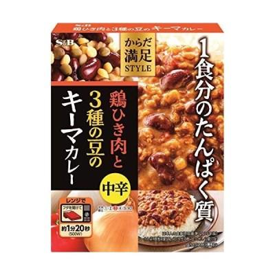 エスビー食品 からだ満足STYLE 鶏ひき肉と3種の豆のキーマカレー中辛 180G ×6箱