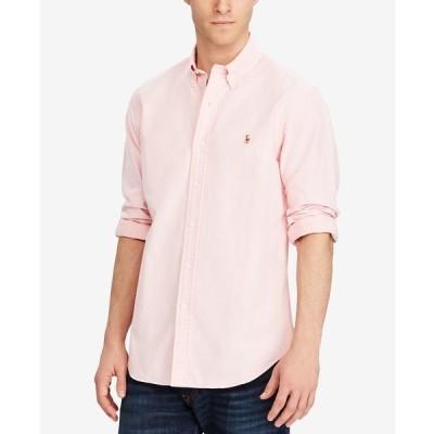 ラルフローレン シャツ トップス メンズ Men's Classic Fit Long Sleeve Solid Oxford Shirt Pink