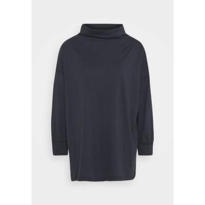 アメリカンイーグル カットソー レディース トップス FUNNEL NECK TUNIC - Long sleeved top - washed black
