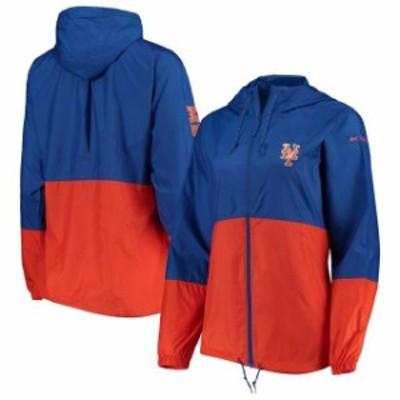 Columbia コロンビア スポーツ用品  Columbia New York Mets Womens Royal/Orange Flash Forward Windbreaker Jacket