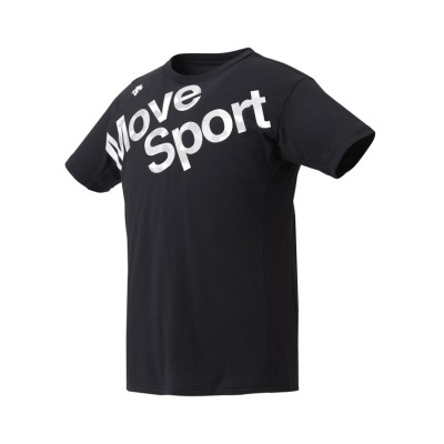 (DESCENTE/デサント)コットン 半袖Tシャツ/メンズ ブラック系