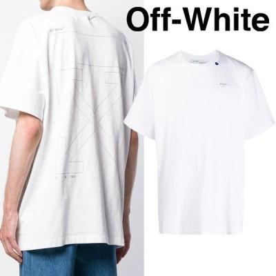 9 OFF-WHITE オフホワイト 19aw UNFINISHED ホワイト オーバーサイズ 半袖 Tシャツ OMAA038E19185003