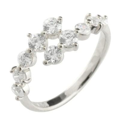 k18 指輪 リング 18金 ダイヤモンド 10周年 記念 ホワイトゴールドk18 テンダイヤモンド 18k 10石 重ねづけ レディース 結婚記念日