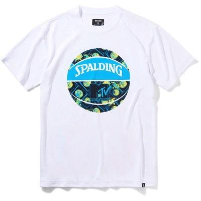 SPALDING(スポルディング) Tシャツ MTV ミュージックミキシング バスケット Tシャツ SMT210340-2000 半袖