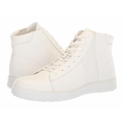 カルバンクライン スニーカー シューズ メンズ Salvador White/White Nappa Calf Leather