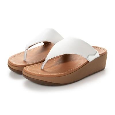 フィットフロップ fitflop MYLA LEATHER TOE-THONGS (Urban White/Silver)