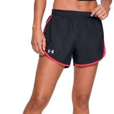 アンダーアーマー レディース ハーフパンツ・ショーツ ボトムス Under Armour Women's Fly By 2.0 Shorts Black/Beta