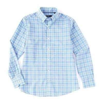 クレミュ メンズ シャツ トップス Plaid Poplin Multi-Color Long-Sleeve Woven Shirt Periwinkle