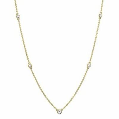 ネックレス 0.30カラット(CTW)10?Kゴールドラウンドホワイトダイヤモンドレディースネックレス1?/ 3?ct