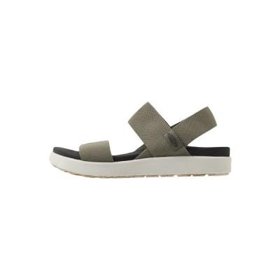 キーン サンダル レディース シューズ ELLE BACKSTRAP - Walking sandals - dusty olive