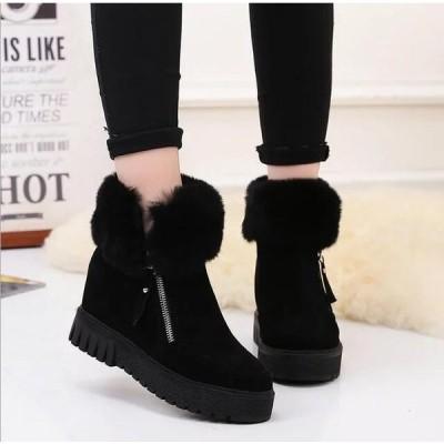 スノーブーツレディースブーツ裏ポアショートブーツ冬シューズ靴滑り止め防寒ブーツ