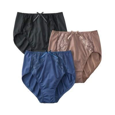 深ばきストレッチショーツ3枚組(L) スタンダードショーツ, Panties