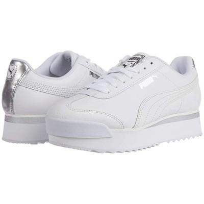 プーマ Roma Amor Leather Met レディース スニーカー シューズ 靴 PUMA White/Whisper White/Silver