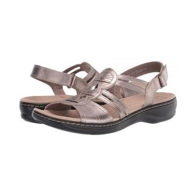 Clarks クラークス レディース 女性用 シューズ 靴 サンダル Leisa Janna - Pewter Metallic Leather