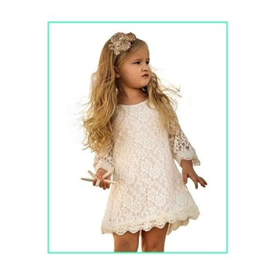 Topmaker Lace Flower Girl Dress (10-12 Years, White)並行輸入品
