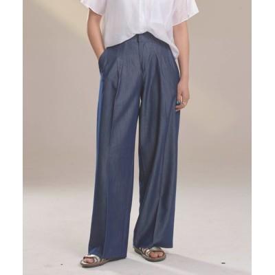 Mayree / 【Korea Select】@the_ketchap / タックワイドデニムライクスラックス WOMEN パンツ > スラックス