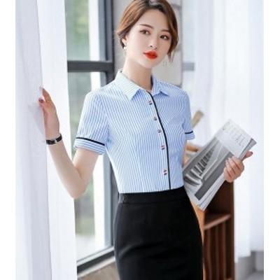 中袖  通勤オフィス ワイシャツ シャツ ブラウス ビジネス レディース シャツ 制服 フォーマル オフィス ワイシャツ トップス スーツ
