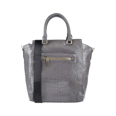 MANGANO ハンドバッグ 鉛色 ポリウレタン 100% ハンドバッグ