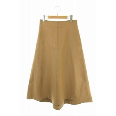 未使用品 ドゥーズィエムクラス DEUXIEME CLASSE YLEVE 18AW スカート ロング フレア 1 茶 W/N FLANNEL /AO