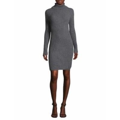 チーカシミア レディース ワンピース Directional Rib Turtleneck Dress