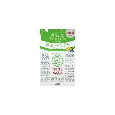 hadakara (ハダカラ) サラサラタイプ グリーンシトラスの香り つめかえ用 340ml ライオン ボディソープ