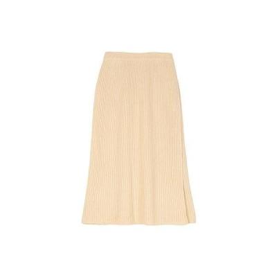 ユアーズ ur's ラップロングニットスカート (アイボリー)