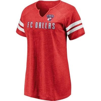 ファナティクス Fanatics レディース Tシャツ トップス MLS FC Dallas Red Notch Neck T-Shirt