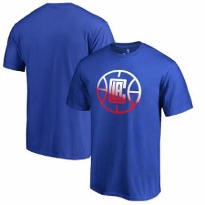 Fanatics Branded ファナティクス ブランド スポーツ用品  Fanatics Branded LA Clippers Royal Gradient Logo T-Shirt