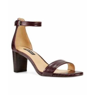 ナインウェスト レディース サンダル シューズ Women's Pruce Ankle Strap Block Heel Sandals Bordo Lizard