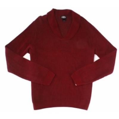 Atlas  ファッション トップス Atlas NEW Red Mens Size Large L Knit Shawl Collar Pullover Sweater