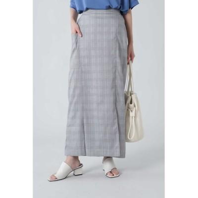 ROSE BUD/ローズ バッド タイトマキシスカート グレー -