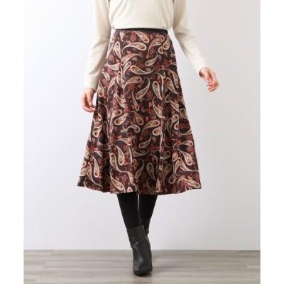 スカート フローラルペイズリースカート