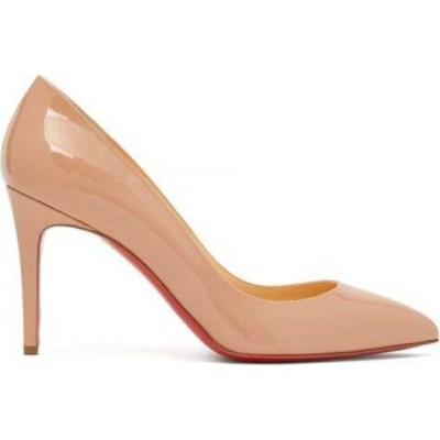 クリスチャン ルブタン Christian Louboutin レディース パンプス シューズ・靴 Pigalle 85 patent-leather pumps Light pink