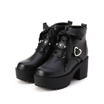 シーエス ティーアンドピー csT&P ハートバックル付きブーツ (ブラック)