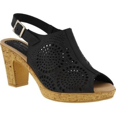 スプリングステップ Spring Step レディース シューズ・靴 Liberty Peep Toe Slingback Black Leather